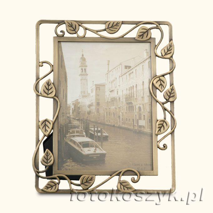 Ramka na zdjęcie 9x13 cm z brązu (liście) Gedeon 1506