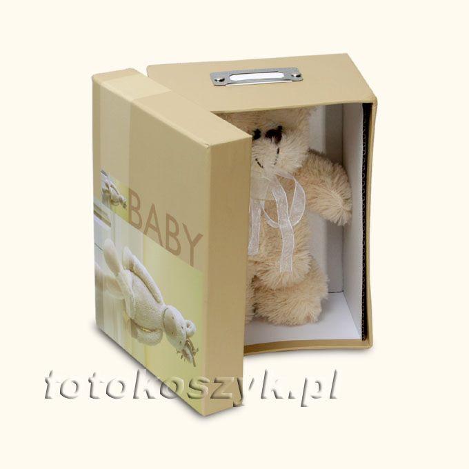 Pudełko na Zdjęcia Bobby Beż (na 700 zdjęć 10x15) + Pluszowy Miś Henzo 4272