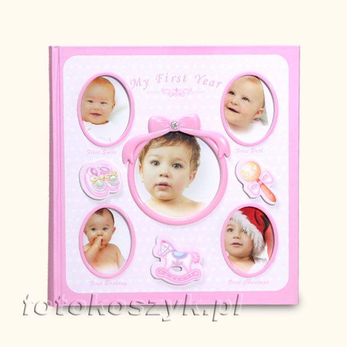 Album Mój Pierwszy Rok + Pudełko Róż (200 zdjęć 10x15) Gedeon KD46200WB BABY-4