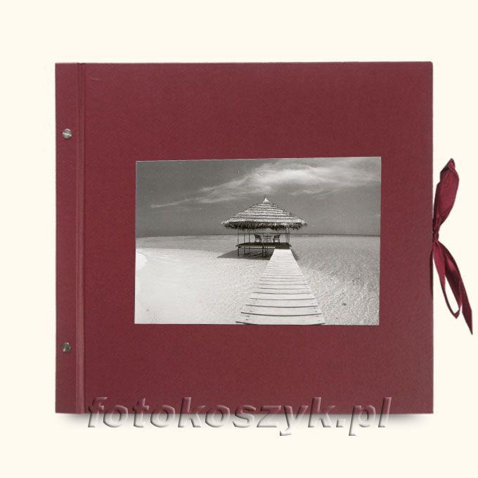 Album Wally Klasyczny Bordo Przystań (tradycyjny 40 czarnych stron)  3287