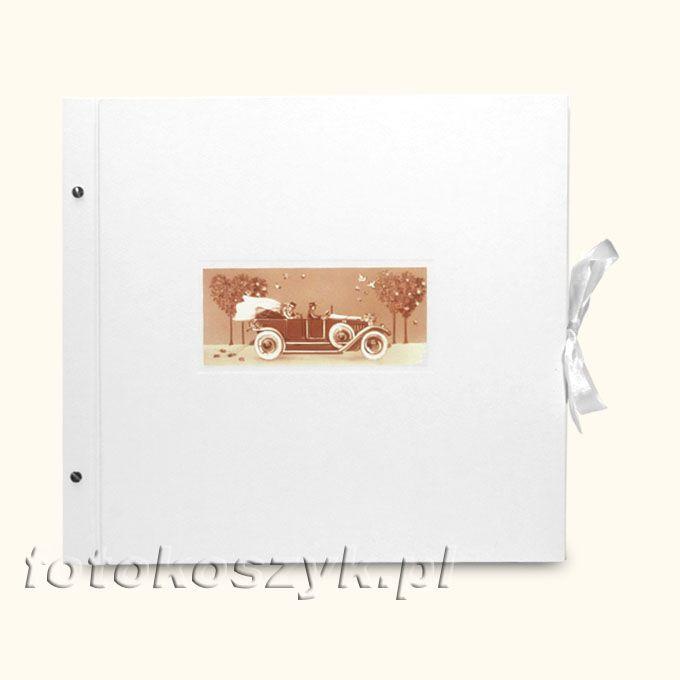 Album Biały Auto XXL (tradycyjny 40 czarnych stron)  3128
