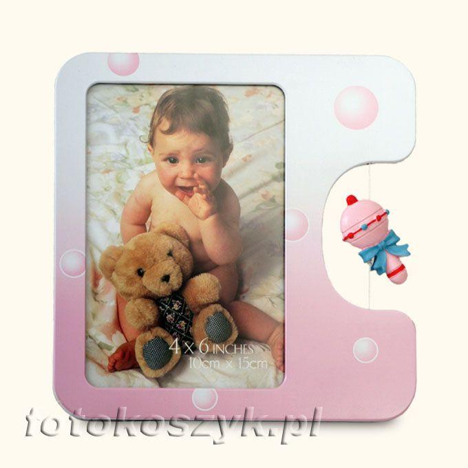 Ramka Dziecięca Baby Różowa (na zdjęcie 10x15) Gedeon 1510