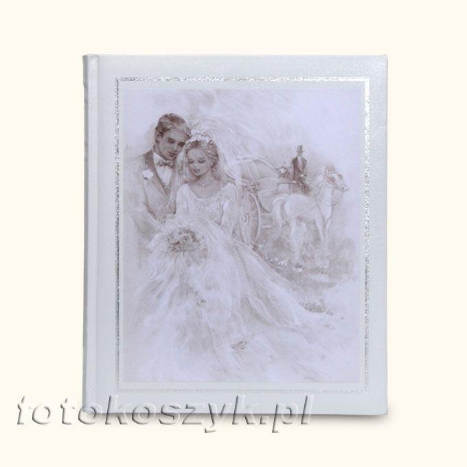 Album Malowany Młoda Para (tradycyjny 60 białych stron)  3559