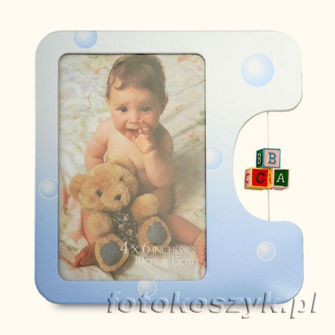 Ramka Dziecięca Baby Niebieska (na zdjęcie 10x15) Gedeon 1511