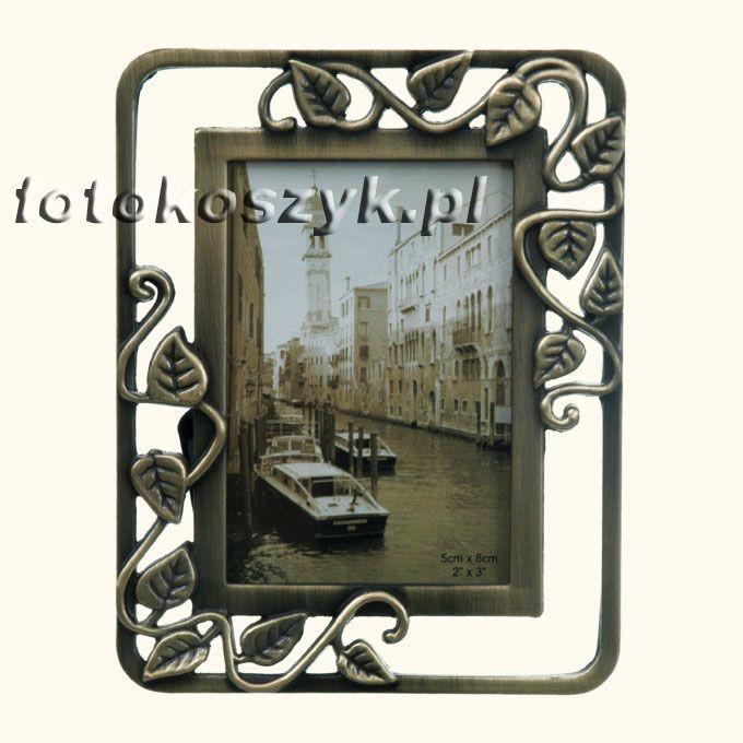 Ramka na zdjęcie 5x8 cm z brązu (liście) Gedeon RM2009