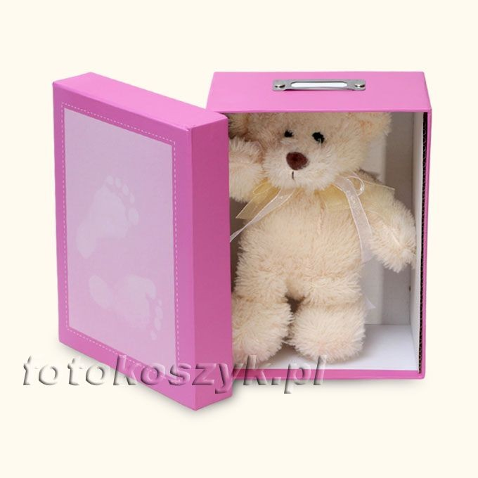 Pudełko na Zdjęcia Steps R (na 700 zdjęć 10x15) + Pluszowy Miś Henzo 4273