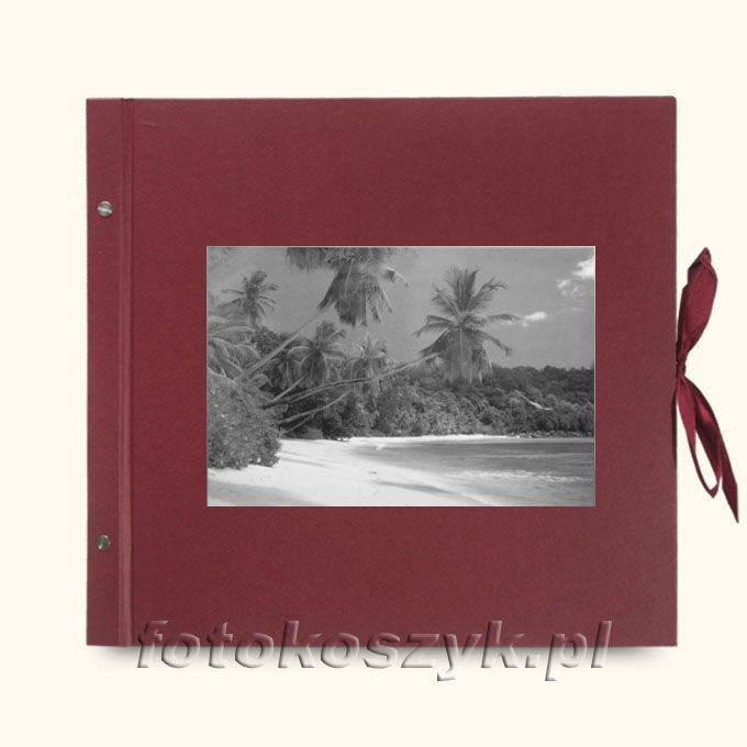 Album Wally Klasyczny Bordo Palmy (tradycyjny 40 czarnych stron)  3286