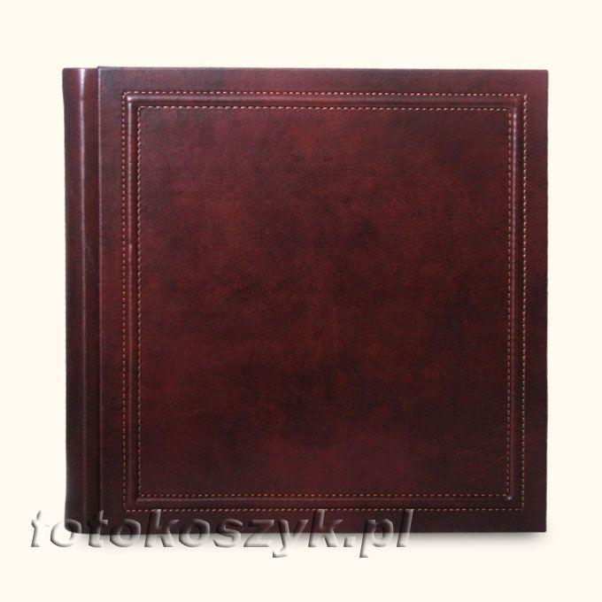 Album Włoski Skórzany Napoli Ciemny 33x33 (tradycyjny, 80 czarnych stron) inni producenci 2950