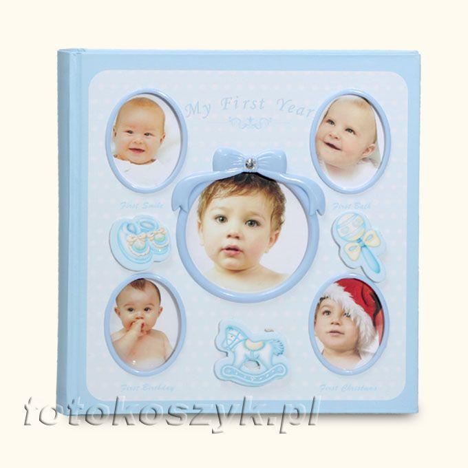 Album Mój Pierwszy Rok + Pudełko Niebieskie (200 zdjęć 10x15) Gedeon 3674