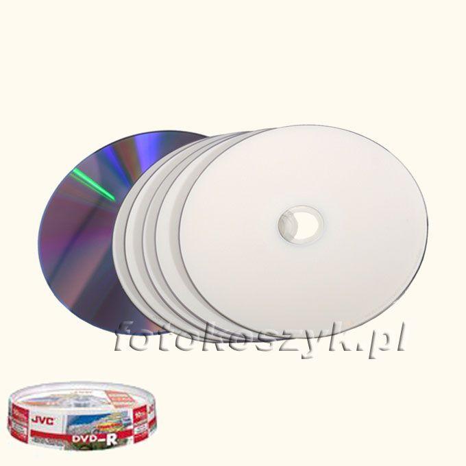 Cake (10 szt) DVD JVC Printable (JVC DVD-R 4,7GB 16xPhoto FF Print Watershield Cake*10) inni producenci 3057