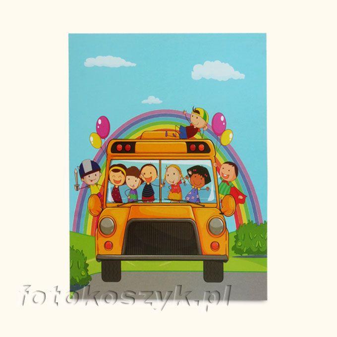 Mini-Album Dziecięcy Autobus na dwa zdjęcia 13x18 inni producenci FP-dz/13/2 autobus