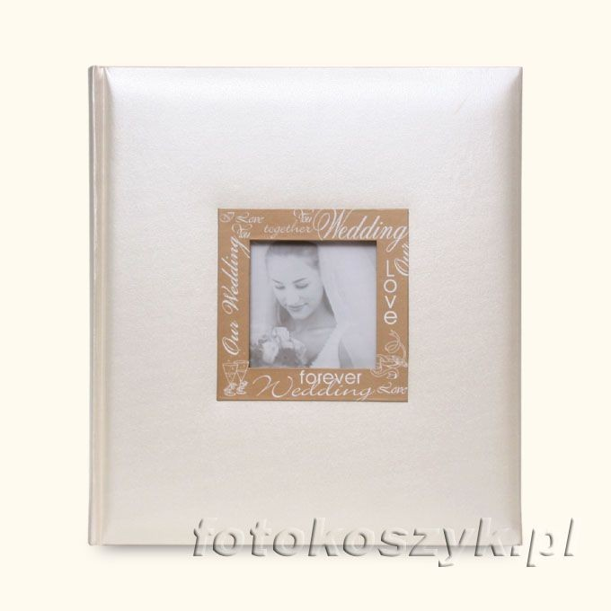 Album Ślubny Sympaty Krem (tradycyjny 60 czarnych stron) Lotmar 2690