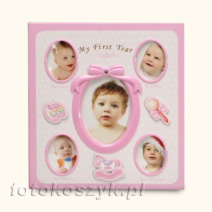 Album Mój Pierwszy Rok + Pudełko Róż (120 zdjęć 10x15) Gedeon 3146