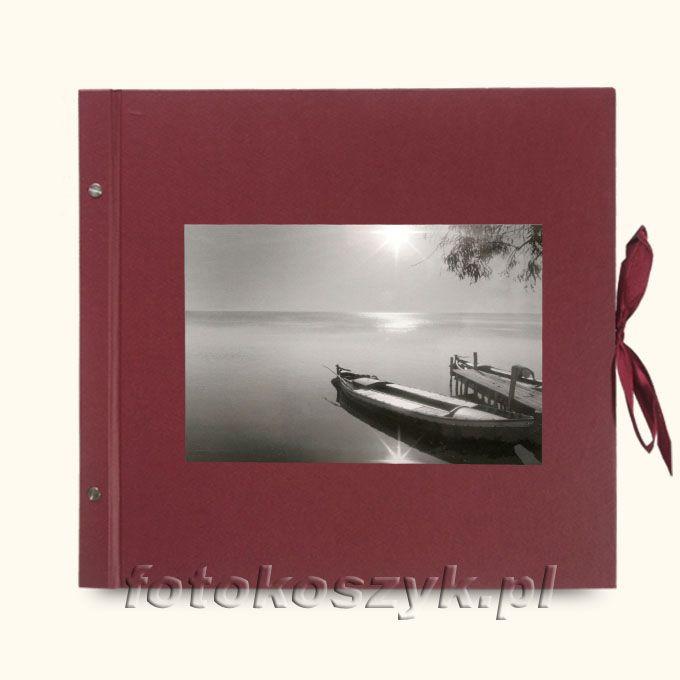 Album Wally Klasyczny Bordo Łódka (tradycyjny 40 czarnych stron)  3288