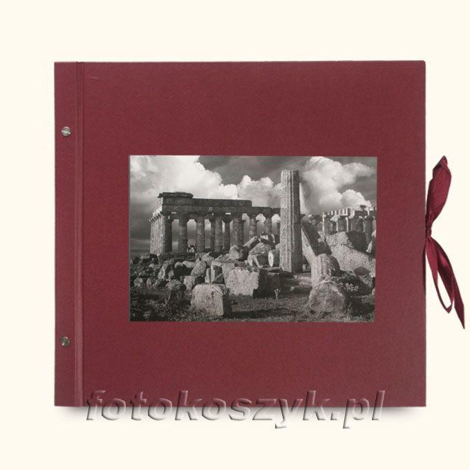 Album Wally Klasyczny Bordo Ruiny (tradycyjny 40 czarnych stron)  3284