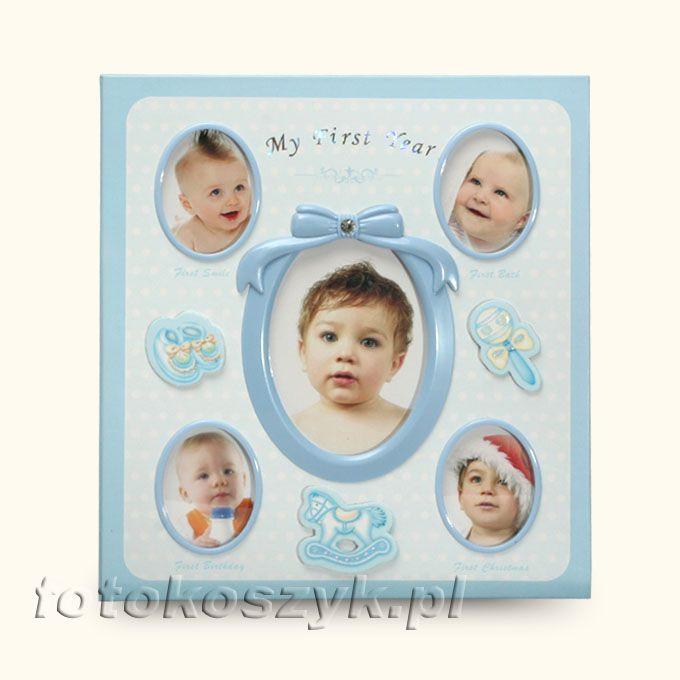 Album Mój Pierwszy Rok + Pudełko Niebieski (120 zdjęć 10x15) Gedeon 3147