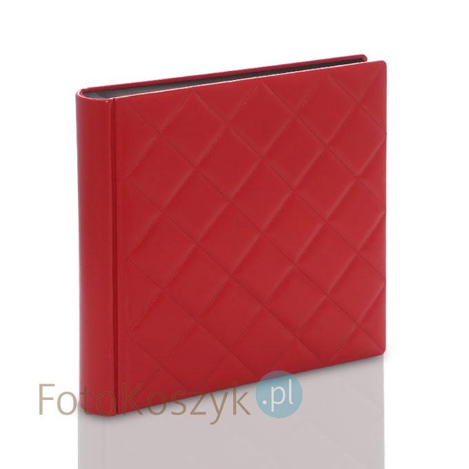 Album introligatorski ER Hand pikowany czerwony XXL (tradycyjny, 100 czarnych stron)