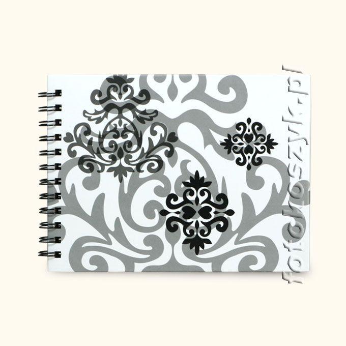 Album Henzo Baroque Biały Mały (tradycyjny 50 czarnych stron) Henzo 24.119 bi