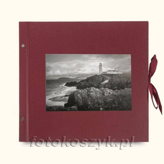 Album Wally Klasyczny Bordo Latarnia XXL (tradycyjny 40 czarnych stron)  3283