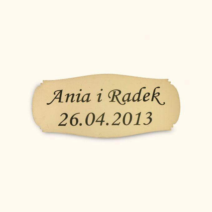Personalizacja Ozdobna - mały, złoty grawer na album inni producenci 5305