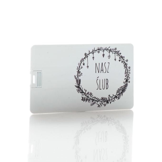Pendrive karta kredytowa Nasz Ślub B&W (do wyboru pojemność 2-32 GB)