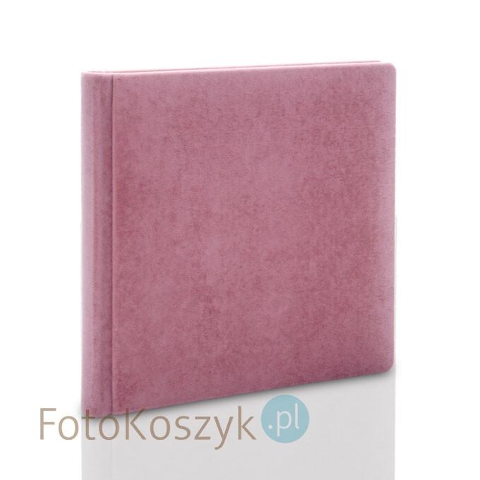 Album Introligatorski ER Hand velvet róż (tradycyjny, 40 kremowych stron)