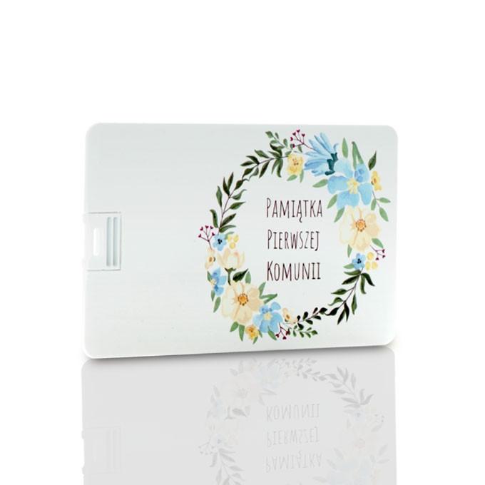 Pendrive karta kredytowa Komunia wianek (do wyboru pojemność 2-32 GB)