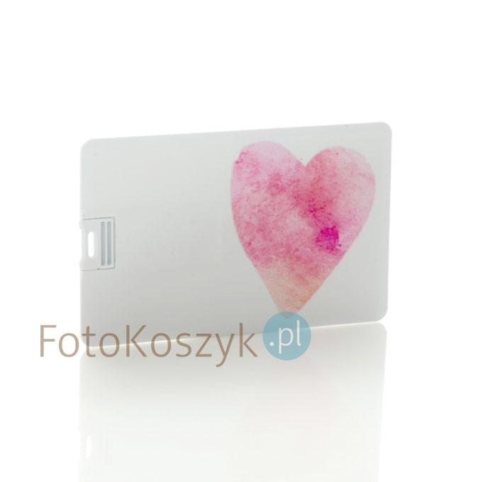 Pendrive karta kredytowa serce (do wyboru pojemność 2-32 GB)