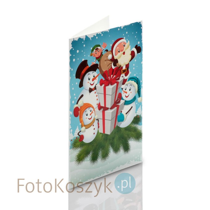 Mini-Album bałwanki zestaw: 2 zdjęcia 13x18 + zakładka na CD/zdjęcia