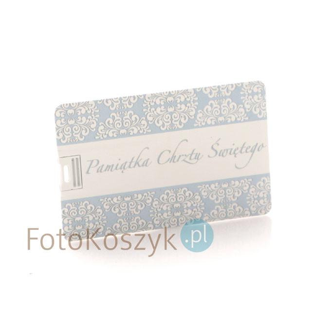 Pendrive Karta Kredytowa Pamiątka Chrztu Św. (do wyboru pojemność 2-32 GB)