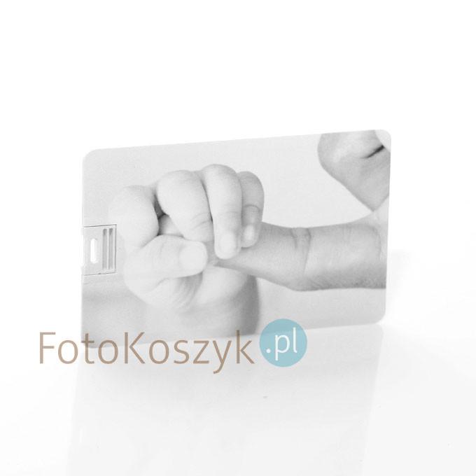 Pendrive Karta Kredytowa Rączka Czarno-Biała (do wyboru pojemność 2-32 GB)