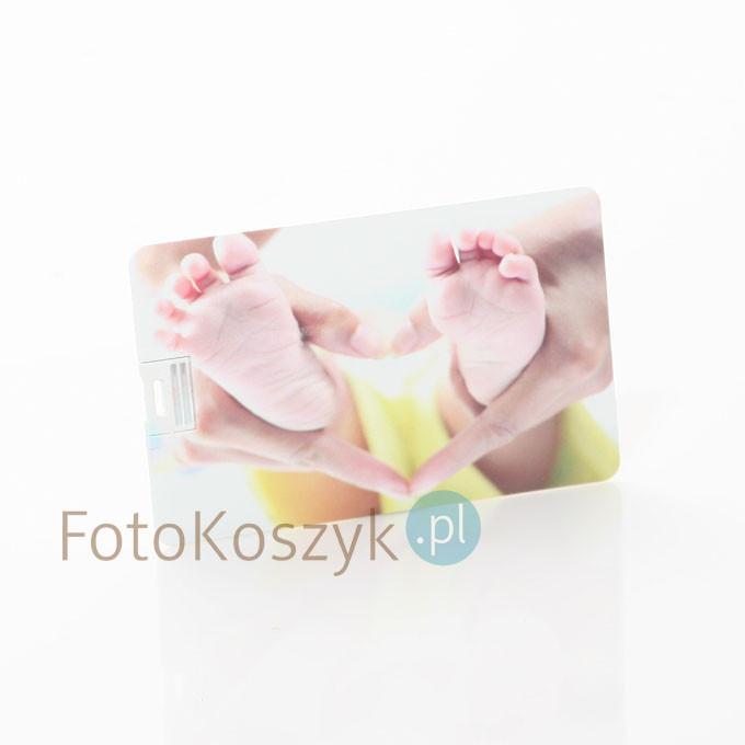 Pendrive Karta Kredytowa Serce Kolor (do wyboru pojemność 2-32 GB)