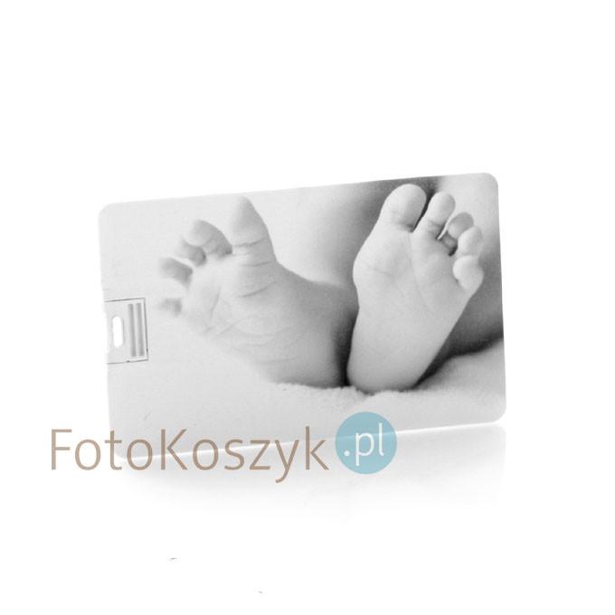 Pendrive Karta Kredytowa Stópki Czarno-Białe (do wyboru pojemność 2-32 GB)