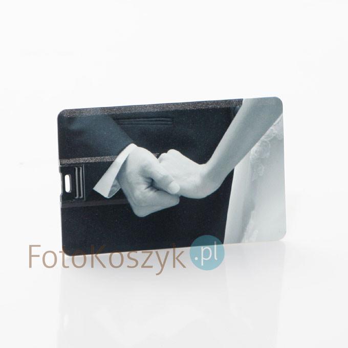 Pendrive Karta Kredytowa Ślubna Czarno-Biała (do wyboru pojemność 2-32 GB)
