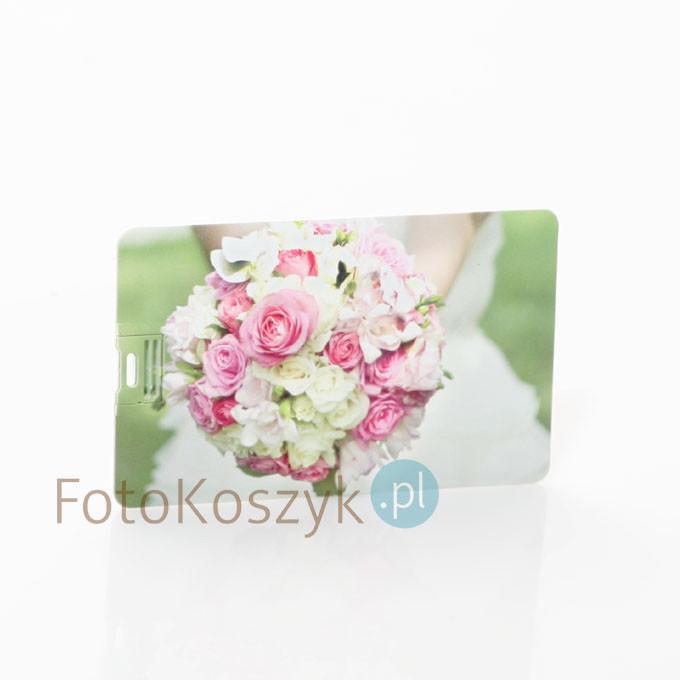 Pendrive Karta Kredytowa Ślubna Kolor (do wyboru pojemność 2-32 GB)
