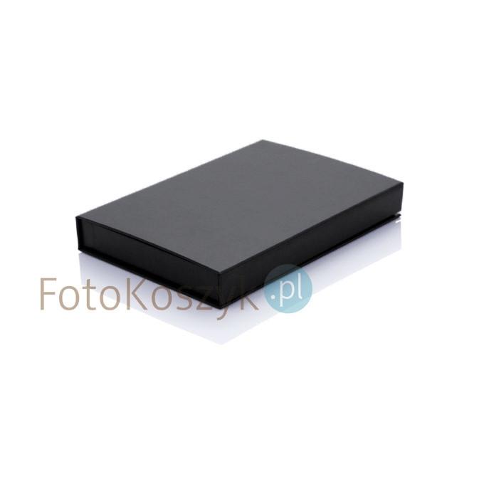 Czarne pudełko na zdjęcia 15x23 z magnesem (do 100 zdjęć)