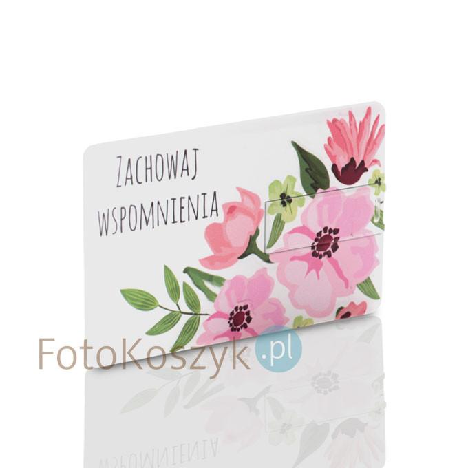 Pendrive karta kredytowa Wspomnienia (do wyboru pojemność 2-32 GB)