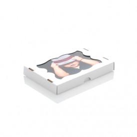 Mocne kartonowe pudełko z okienkiem na odbitki 15x21