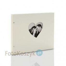 Album Goldbuch Chromo Beige XXL serce (tradycyjny 40 czarnych stron)
