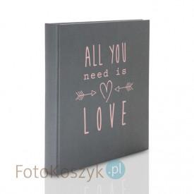 Album All you need is love szary (tradycyjny 60 kremowych stron)