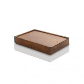 Drewniane, bejcowane pudełko na odbitki 15x23