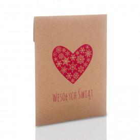 Koperta na zdjęcia 10x15 lub 13x18 świąteczne serce