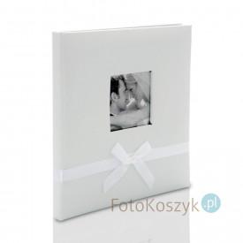 Ślubny album w pudełku Bekri Biel (tradycyjny 20 czarnych stron)