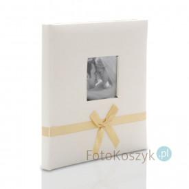 Ślubny album w pudełku Bekri Krem (tradycyjny 20 czarnych stron)