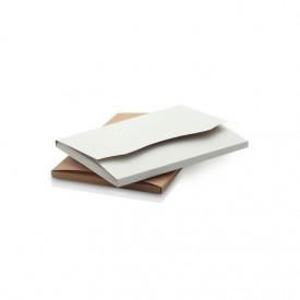 Teczka Kraft na zdjęcia 10x15 (biało-brązowa) plus rzepy