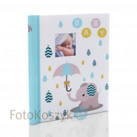 Album na zdjęcia dziecięce niebieski słonik (20 stron pod folię)