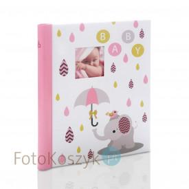 Album na zdjęcia dziecięce różowy słonik (20 stron pod folię)