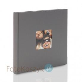 Album Fun mały kwadrat szary (tradycyjny 40 kremowych stron)