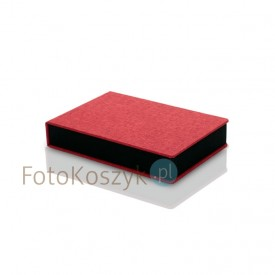 Pudełko na odbitki 15x23 Er Hand płótno czerwone + miejsce na pendrive