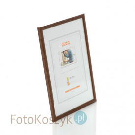 Ramka drewniana średni brąz 3 (na zdjęcie 21x30 cm)